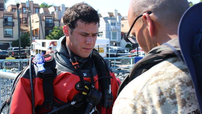 A member of the Perth Amboy Dive Team