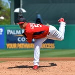 St. Louis Cardinals starting pitcher Marco Gonzales (56) will begin the season in Triple A.
