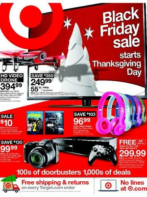 The front page of Target's 2015 Black Friday ad.