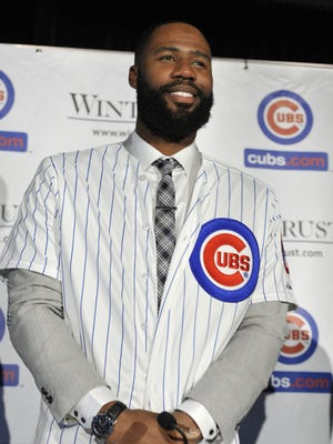 Jason Heyward signed an eight-year, $184 million contract with the Cubs.