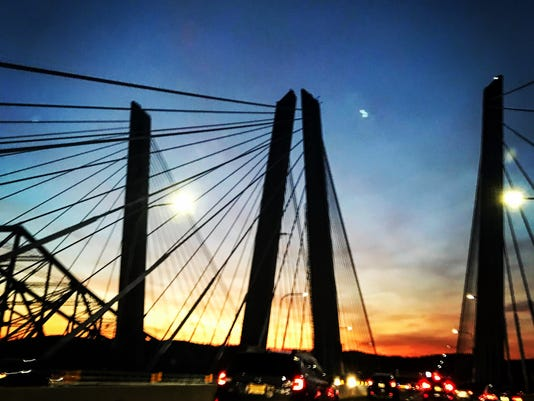 Cuomo Bridge at sunset