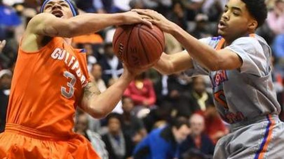 Gulfport guard Dimitri Cook in the 2014 6A State Championship semifinals vs. Madison Central.