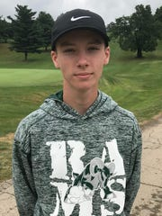 Jonah Aumend won the boys 15-16 title in the Richland County Junior Golf Tournament.