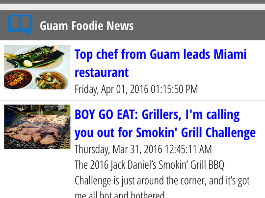 The new Guam Foodie app, available for Apple and android devices, includes the latest food articles from Pacific Daily News. Learn about new restaurants and find recipes.