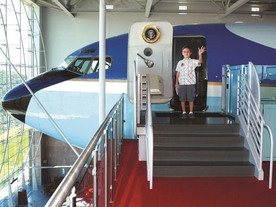 Visitors to the library are able to step aboard the same Air Force One that flew President Reagan over 660,000 miles to 26 foreign countries and 46 U.S. states.