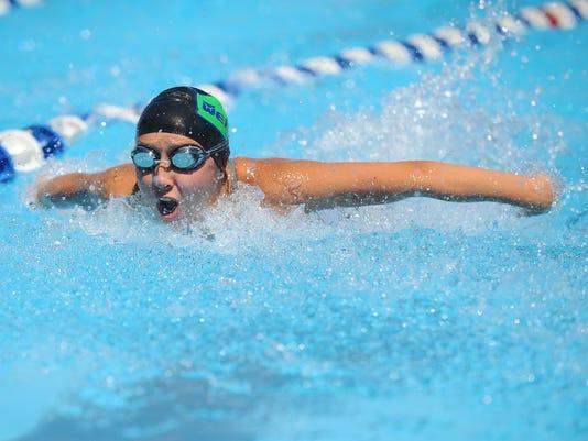 Grace Yoon swims the individual medley