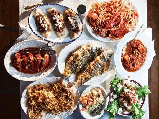 Asheville area culinary calendar for Seven fishes menu