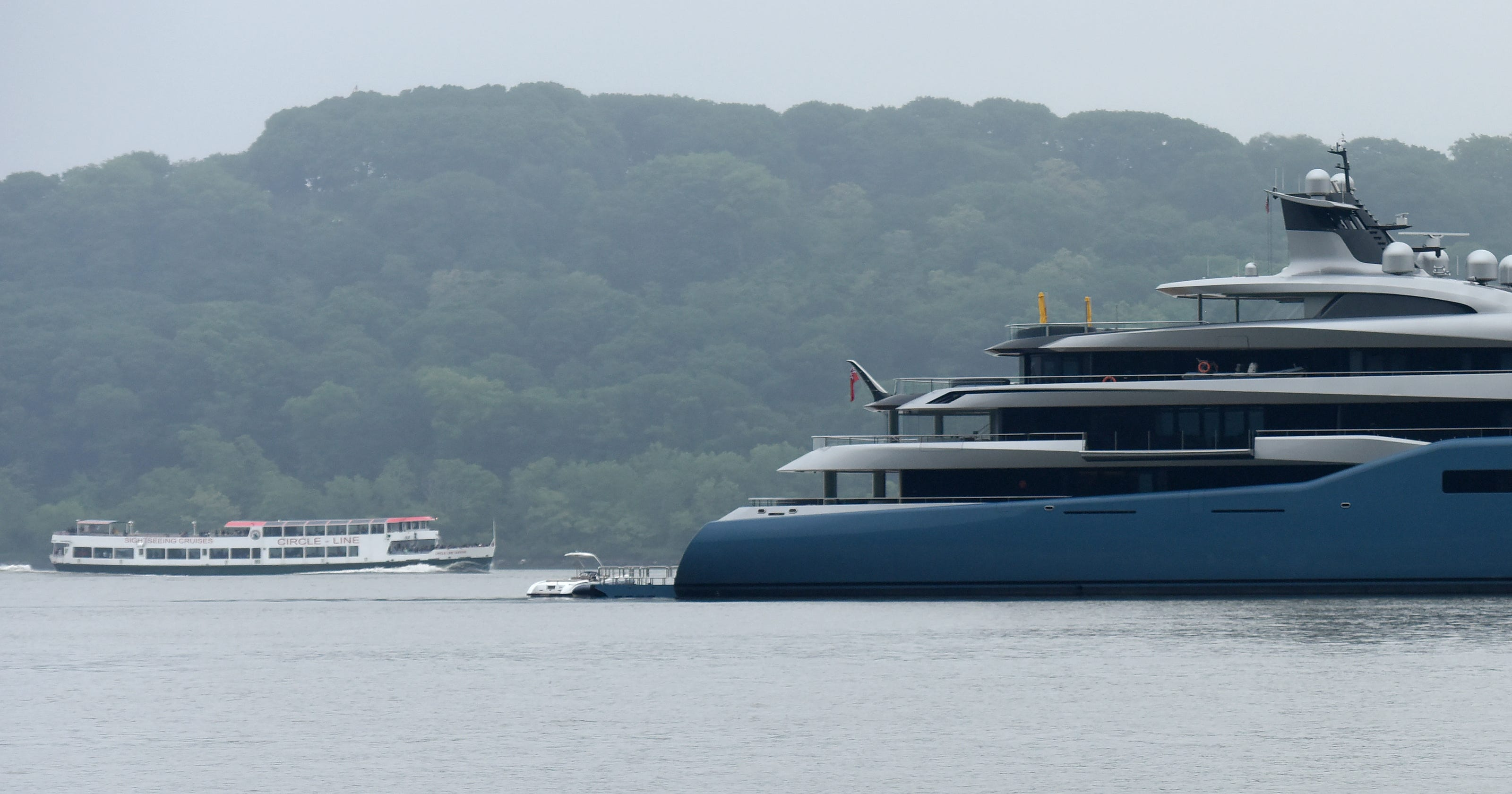 British Billionaire Joe Lewis Giant Yacht Is Anchored Near Fort Lee