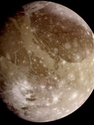 Photo of Ganymede, taken from NASA's Galileo spacecraft.