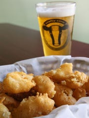 A major favorite at the Crafty Cow is the cheese curds.