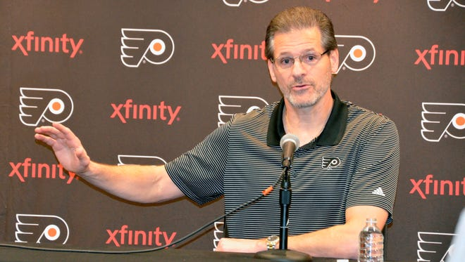 Flyers general manager Ron Hextall addressed the media Thursday afternoon to evaluate the season.