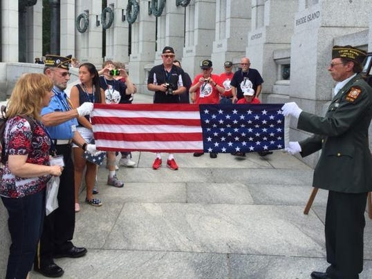 folding the flag in wash DC