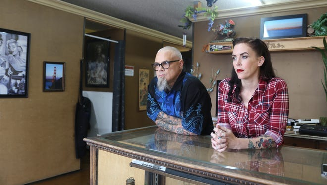 Adam and Melini Roettger say local property owners have refused to rent to them simply because they own a tattoo parlor.