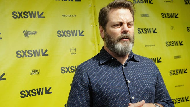 "Actor Nick Offerman attends the premiere of ""The Hero"" during the 2017 SXSW Conference and Festivals at the ZACH Theatre on March 10 in Austin, Texas."