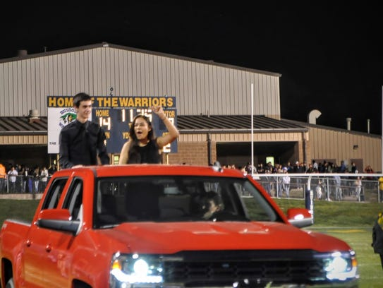 Tyler Davis and Mira Bhatka were named 2016 Homecoming