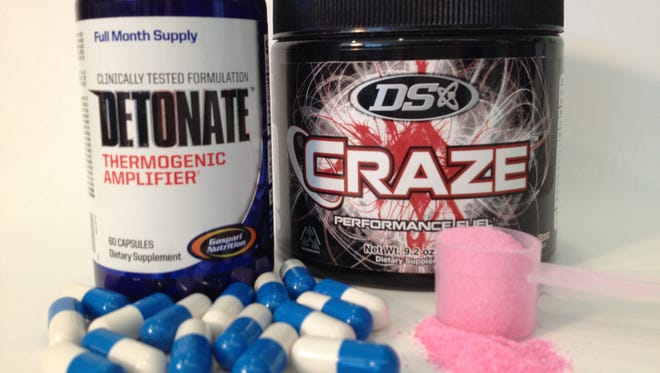 Craze is marketed by Driven Sports as an all-natural pre-workout supplement. Detonate is marketed by Gaspari Nutrition as an all-natural weight loss supplement.