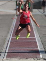 Desert Mirage's Jazmine Gamboa competes in and later
