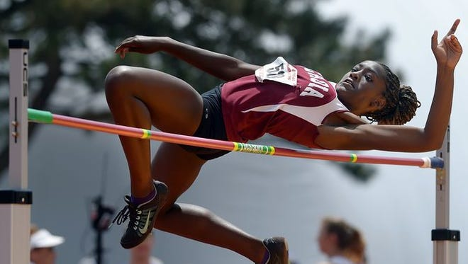 Greece Arcadia rising-junior Asia McInnis advanced to the high school outdoor state track & field meet and earned a podium or top-six finish in the girls high jump in June.