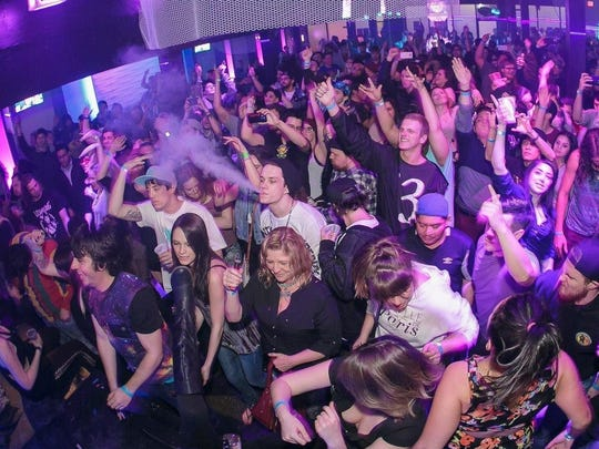 EDM fans grooving to bass music at 1up, earlier this year.