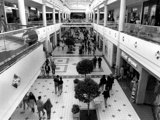 Shoppers at the  Irondequoit Mall, the day after Thanksgiving, in 1990.