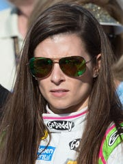 Sprint Cup Series driver Danica Patrick before the