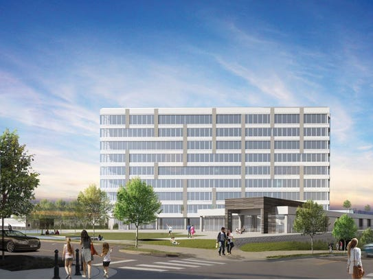 A view from Lea and Peabody of the multifamily building