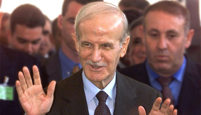 Syria started its chemical weapons program under  President Hafez Assad.