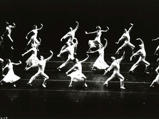 "This image from 1993 shows the Joffrey Ballet's ""Billboards"""