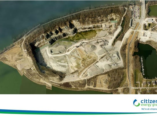 The quarry will be filled in with rain and groundwater to create a reservoir for Citizens Energy Group.