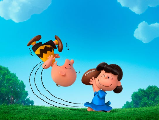 Charlie Brown and Lucy in 'The Peanuts Movie.'