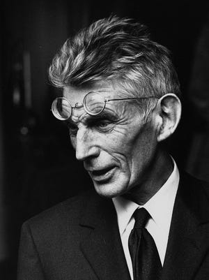 Irish playwright and author Samuel Beckett (1906 - 1989) at a first night performance on April 25, 1970.