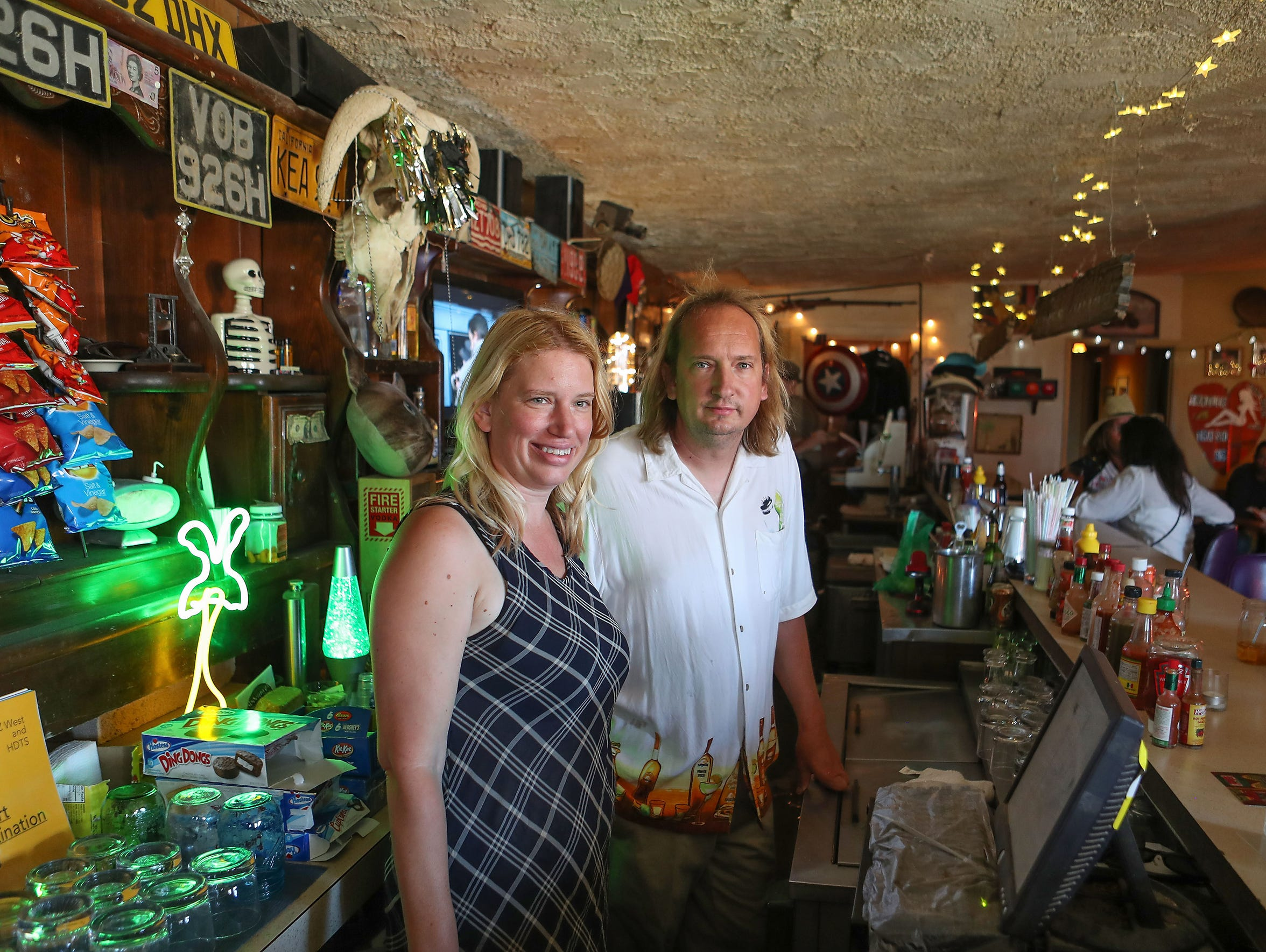 Siblings Laura and James Sibley own the Palms Restaurant in Wonder Valley.