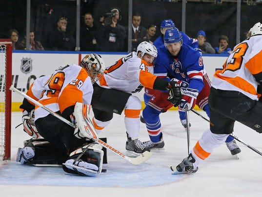 Rangers vs. Flyers 2014 playoffs Game 2 Ray Emery Rick Nash