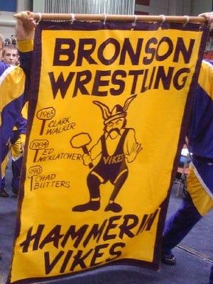 Bronson wrestling banner