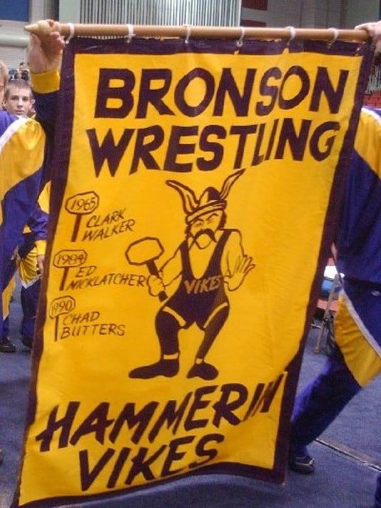 Bronson Wreslers entrance into Kellogg Arena