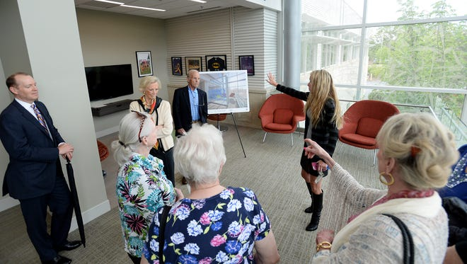 Plans for a new St. Francis Adolescent and Young Adult Cancer space were unveiled by Clement's Kindness Fund for Children and the Bon Secours St. Francis Cancer Center during a press conference on Thursday, May 5, 2016