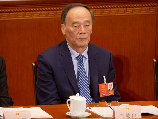 In this March 13, 2018 photo, Wang Qishan attends a