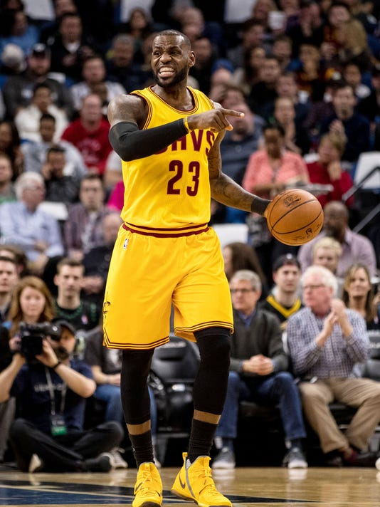 d3ed698a7420 NBA  Cleveland Cavaliers at Minnesota Timberwolves. Cleveland Cavaliers  forward LeBron James ...