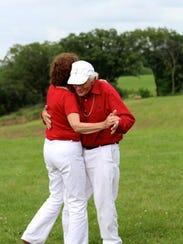 Wanda Findley and John Kirsch enjoyed dancing for 10