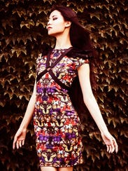 You can find Xiao Lin's butterfly dress with feather