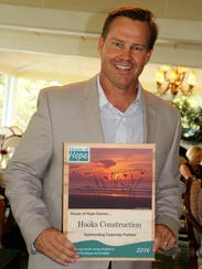 Steve Hooks of Hooks Construction accepted the 2016