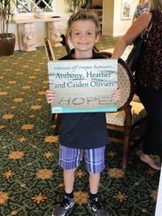 Caiden Olivieri shows off his family's Jensen Beach