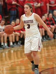 Buckeye Central's Jenna Karl dribbles the ball during