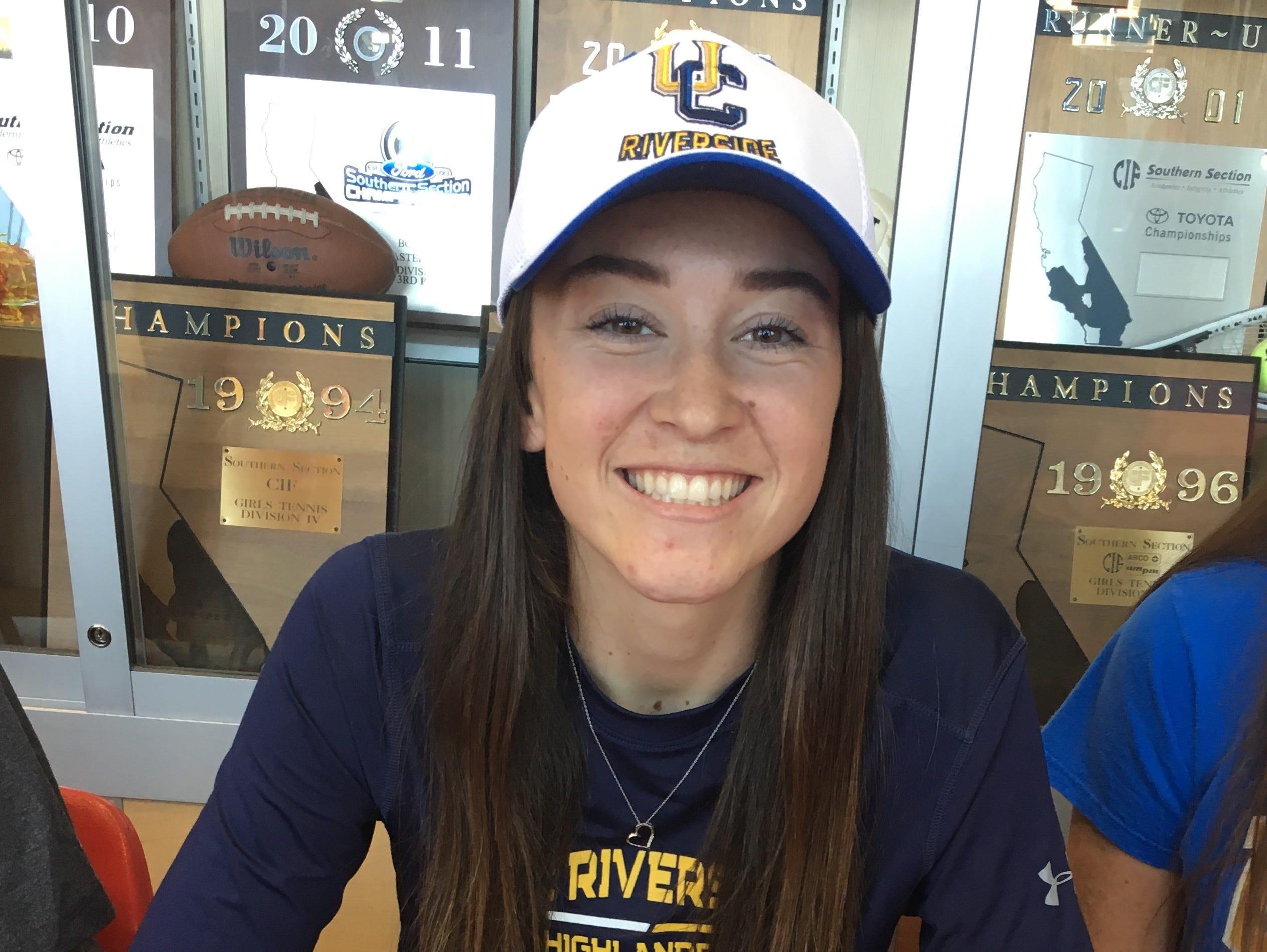 Jane Jordan, a Palm Desert girls' soccer player, will play college soccer at UC Riverside.