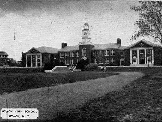 Vintage photo of the old Nyack High School.