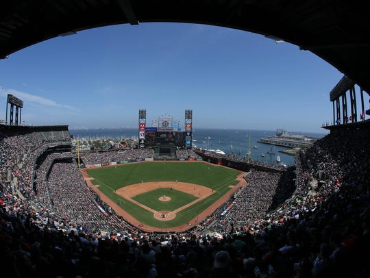 A general view of Oracle Park during the fourth inning