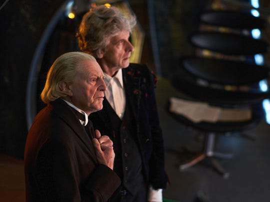 david bradley as the first doctor and peter capaldi