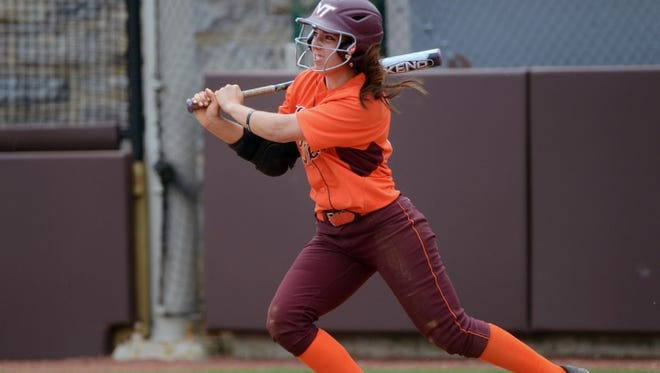 Kylie McGoldrick leads Virginia Tech's softball team.