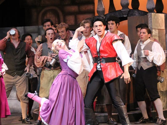 "Albert Nelthropp is hilarious as Gaston in Barn Theatre's ""Beauty and Beast."""