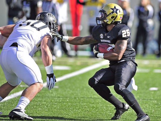 Vanderbilt running back Brian Kimbrow was signed by